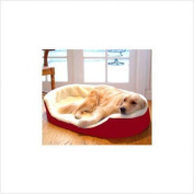 Majestic Pet 788995622413 36x24 Large Lounger Pet Bed- Red