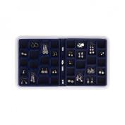 Neatnix RJS-36-7 Jewellery Stax - 36 Compartment - Midnight Blue