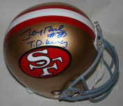Victory Collectibles VIC-000089-30333-1 Jerry Rice Autographed T.D. King Throwback San Francisco Replica Helmet