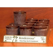 Aloha Bay Candle Votives Blended With Essential Oils - Mango