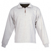 Berne Apparel SP250GYR520 2X-Large Regular Original Fleece Quarter Zip Sweatshirt - Grey