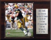 C & I Collectables 1215FAVREST NFL Brett Favre Green Bay Packers Career Stat Plaque