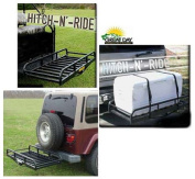 Great Day HNR1000TLB Hitch-N-Ride XL- Truck Hitch Receiver Cargo Carrier - 18cm . sides -5.1cm . - Black - 100cm . bar