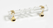 JVJHardware 31724 Pure Elegance 3 in. Center to Center Scored 31 Percent Leaded Crystal Pull - 24 K Gold Plated