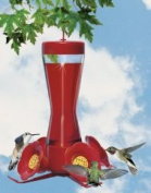 Woodstream Hummingbird W Pinch Waist Hummingbird Feeder Red 8 Ounces - 203CP