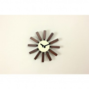 Kirch G80711WALNUT George Nelson Block Clock - Walnut