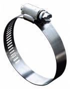 Ideal Division-stant 2.5cm . To 2-.63.5cm . Hy-Gear Worm Drive Clamps 5728053 - Pack of 10