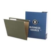 Business Source BSN17532 Hanging Folder- .33 Tab Cut- Letter- Standard Green