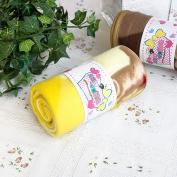 Blancho Bedding TB-BLK016-YELLOW-27.6by38.6 Teddy Bear - Yellow Korean Coral Fleece Mini Baby Throw Blanket