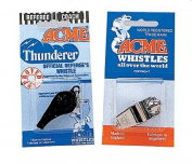 Olympia Sports GE122P Acme Thunderer Plastic Whistle - Black