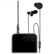 Macally HIFITUNE Hi-Fi Sound EarBud with Microphone for iPhone/iPod, Silver