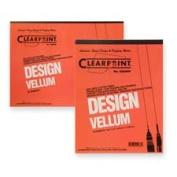 ClearPrint CLE10001410 Vellum Pad- 50 Sheets- Acid-free- 8-.130cm .x28cm .- White