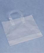 Bags & Bows by Deluxe H16CL Clear Frosted Economy Shoppers - Case of 250