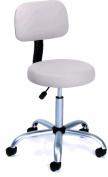 Boss High Back Medical Stool Chair With Backrest - B245 - Black Vinyl