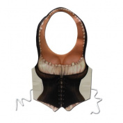 Adults Womens Plastic Mediaeval Maiden Vest Chest Piece Costume Accessory