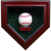 Powers Collectibles 99911306 Signed 1 Baseball Homeplate Shaped Display Case