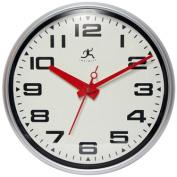 Infinity Instruments 14097SV-3282 15 in. Round Lexington Avenue Clock