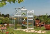 Palram Mythos Series 1.8m x 1.8m Greenhouse - Silver