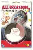 Bobbie Weiner 9000 Red White and Black Clown Make-up Wheel