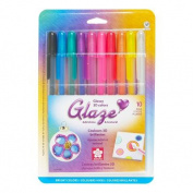 Gelly Roll Glaze Bold Point Pens 10/Pkg-Brights