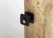 Dare Products Black Widow Wood Post Insulato Black - BW-WP-25