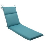 Pillow Perfect 507101 Outdoor Forsyth Chaise Lounge Cushion in Turquoise - Turquoise