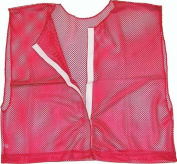 Olympia Sports PC167P Deluxe hook and loop Team-Scrimmage Vest - Red