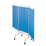 R & B Wire PSS-3C Portable Three Panel Patient Privacy Screen with Casters - Blue