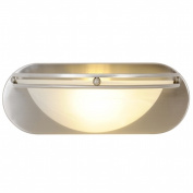 Quality Home Items 617616 Contemporary Fluorescent Lighting Collection, Bath Vanity 1-Light, Brushed Nickel