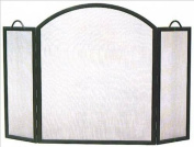 Minuteman Intl. 3 Panel Arched Top Twisted Rope Fireplace Screen