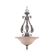 Weinstock Lighting 598P-3FM Antique Reproduction Filigree Pendent - French Mist
