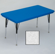 Correll Ar2448-Rec-23 Rectangular Blow-Molded Activity Tables - Standard Legs - Grey Granite