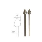 Prox Tech 28724 Tungsten vanadium cutter- flame- 2 pcs.- 2.7cm .
