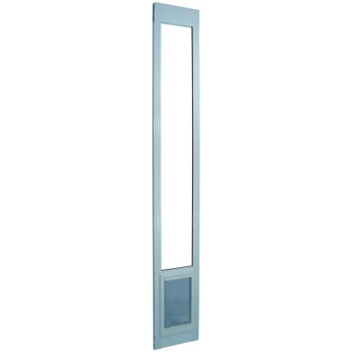 Ideal Pet Products 240cm White Patio Door with Pet Door
