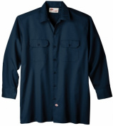 Dickies Extra Extra Large Navy Mens Long Sleeve Work Shirt WL574NV 2X