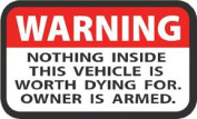 Western Recreation Ind 4109 Warning Label Decal 2X3