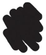 Puffy Velvet Fabric Marker Open Stock-Black