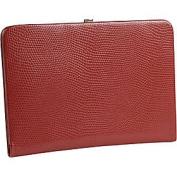 Budd Leather 551856L-9 Framed Lizard Print Calf Skin Photo Case - Red