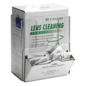 Horizon Manufacturing 5157 Lens Cleaning Towelette-Respirator Wipe - Box Holder- Clear Plastic