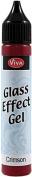 Viva Decor 130083 Viva Decor Glass Effect Gel 25ml-Crimson