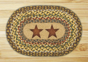 Capitol Importing 81-051GS Gold Stars - 10 in. x 15 in. Hand Printed Oval Swatch