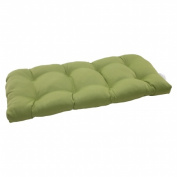 Pillow Perfect 506050 Outdoor Forsyth Wicker Loveseat Cushion in Green - Green