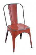Woodland Import 55444 Metal Red Chair for Modern Or Traditional Style
