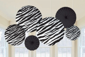 Zebra Stripes Animal Print Paper Fan Decorations