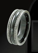Rising Time TCR-3096-sz-9 Tungsten Ceramic Band Size- 9