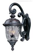 Maxim Lighting 3497WGOB Carriage House DC 12 HCO 3-Light Outdoor Wall Lantern - Oriental Bronze