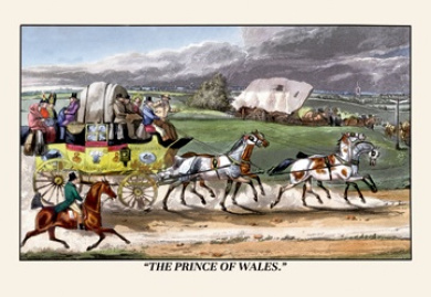 Buy Enlarge 0-587-06416-1P12x18 Prince of Wales Rides on a Horse-Drawn Carriage- Paper Size P12x18