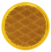 Peterson Mfg. Amber Round Stick-On Reflector V475A