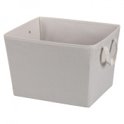 Household Essential 311001 Natural Blended Canvas Medium Tapered Bin