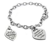 EWC B33005 Stailess Steel Heart Charm Bracelet